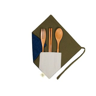 [One corner chopstick set] - Tannin