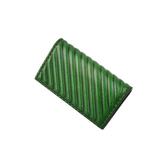 PIPILALA Leather Design Solid Leather Business Card Holder - Classic Twill (Forest Green)