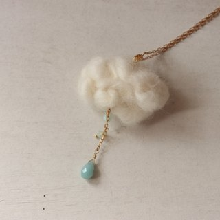Amazon stone necklace clouds raindrops