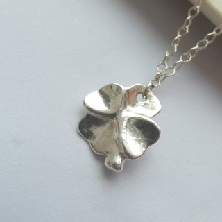 Lucky Grass - Sterling Silver Necklace