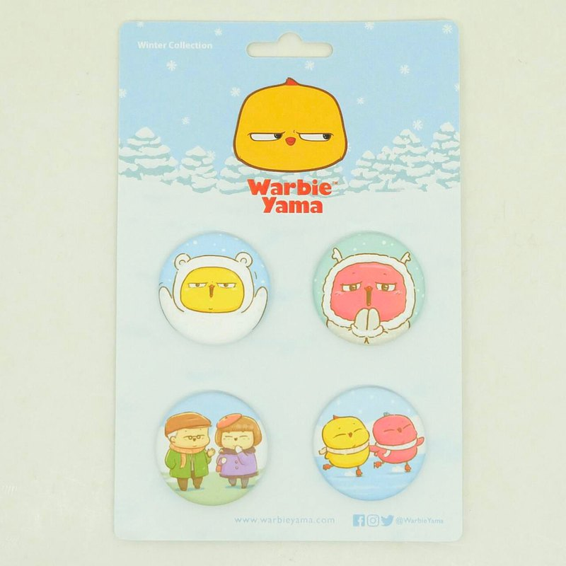 Button Pin Winter edition (4pins in a pack)