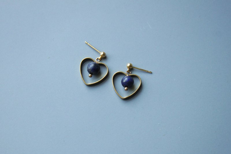 Initial heart - earring  clip-on earring