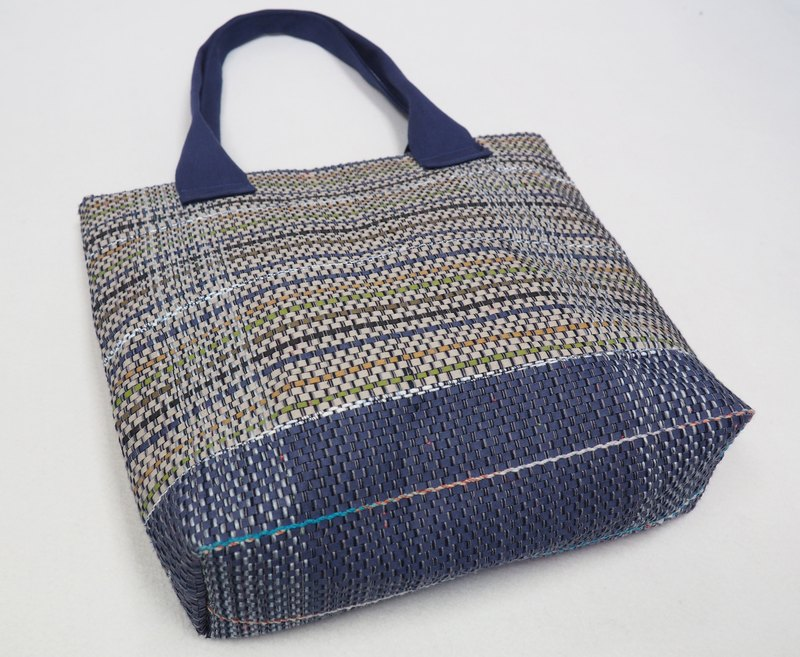 Kraft Paper Tote bag in Blue