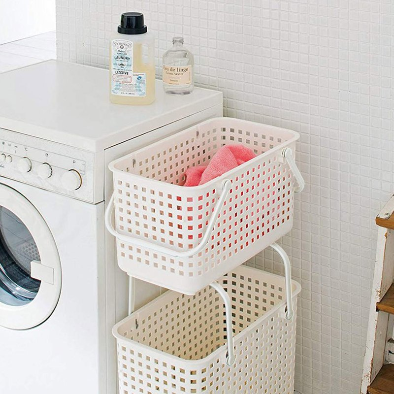 Japanese like-it stackable height laundry slot basket - M-1