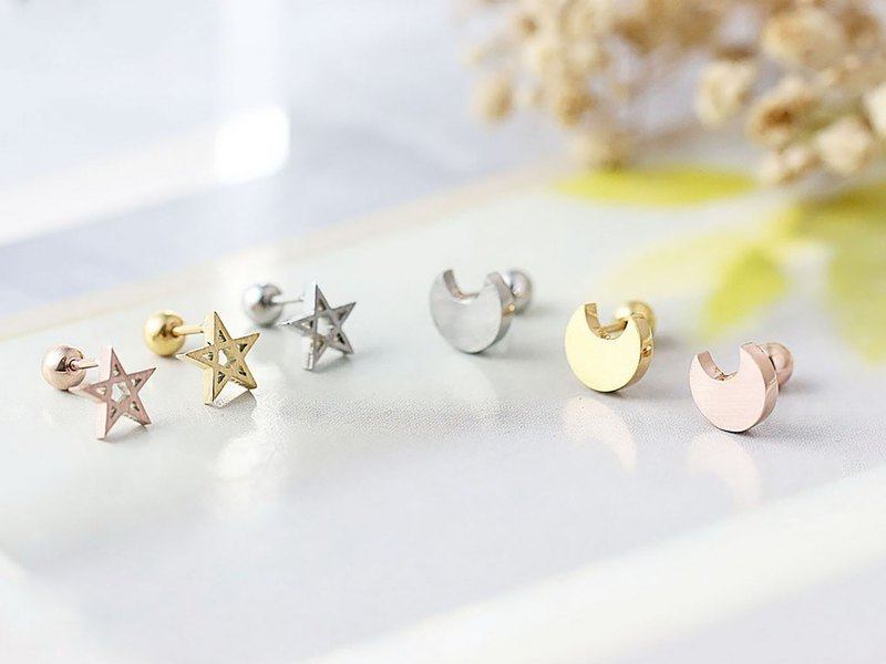 Xingyue Stud Earrings I 316L Medical Grade Stainless Steel