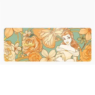 InfoThink Disney Princess Series Flowerbed Mouse Mat - Beauty and Beast Bell