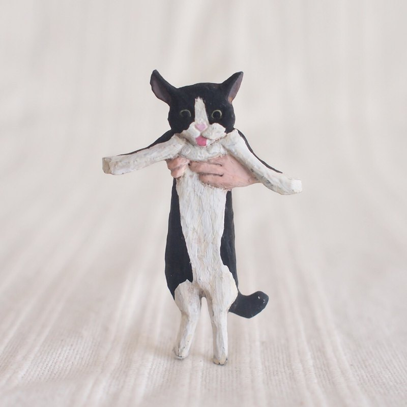 Pin resin brooch  Cath the cat
