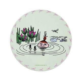 Moomin Moomin authorization - water coaster: [lotus pool of play (apple green)] (round / square)