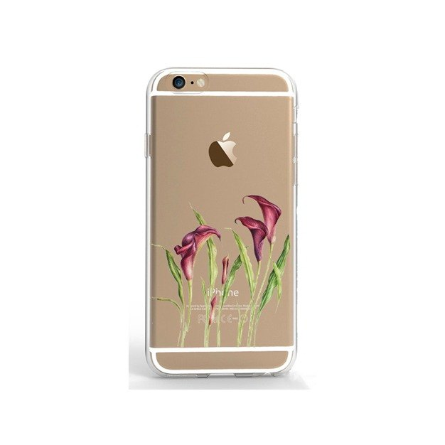 Clear iPhone case clear Samsung Galaxy case floral 1207