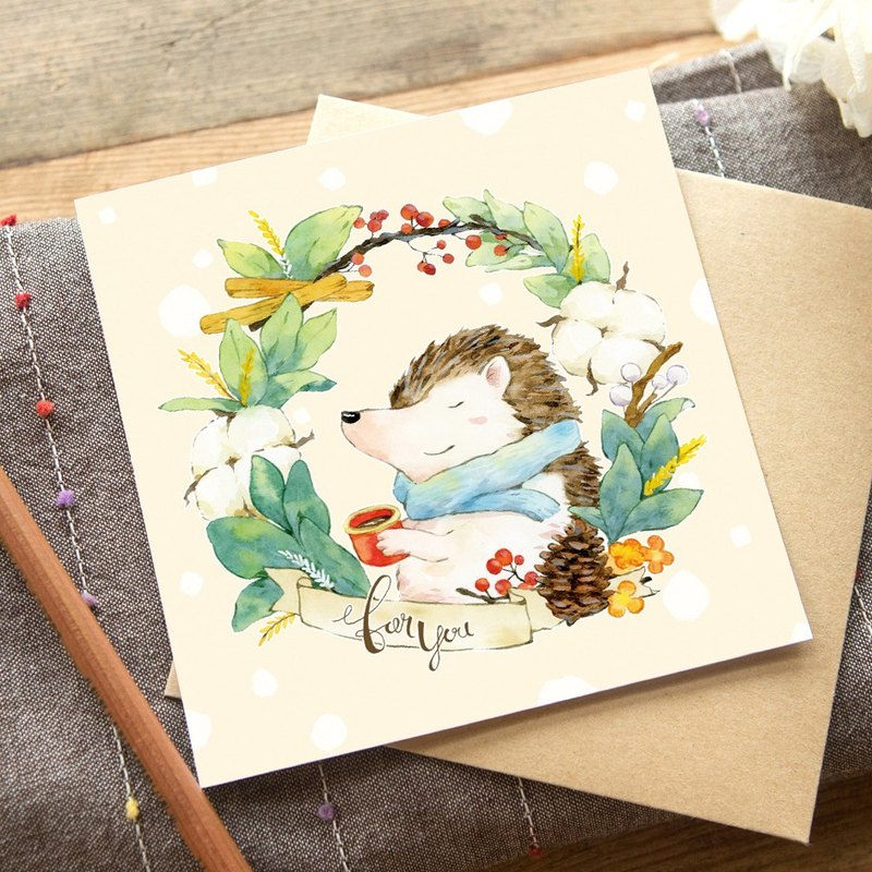OURS Greeting Card - Hedgehog - by Koopa