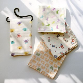 Clover piggy Japanese double gauze small towel bibs