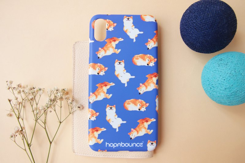 Kelly Shiba Inu Phone Case in Blue/ iPhone 6 7 8 plus x xs xr x max Samsung