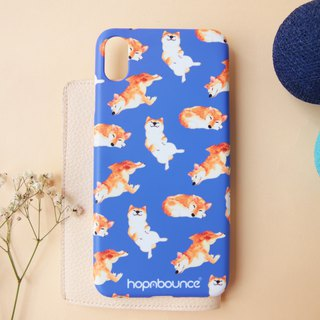 Kelly Shiba Inu Phone Case in Blue