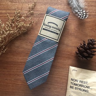 Neck Tie Pewter Grey Pin Stripe