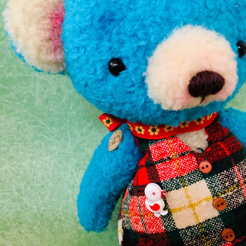 Retro blue bear