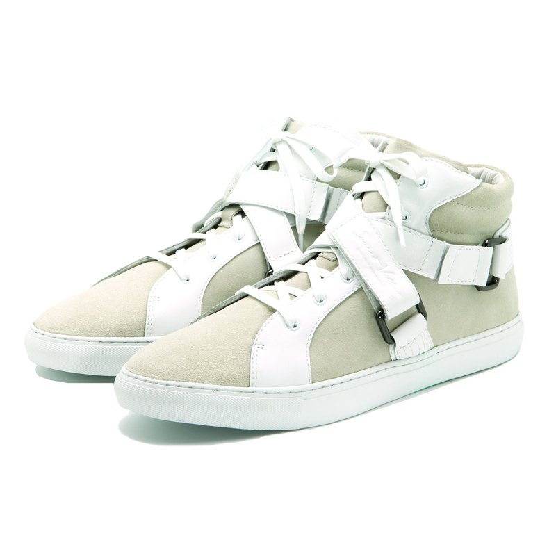 Sweet Villians X Mirako M1192 聯名高筒白色真皮休閒鞋