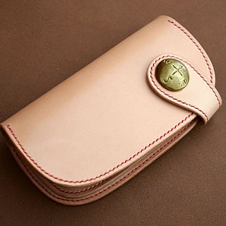 Natural leather wallet (Button type)