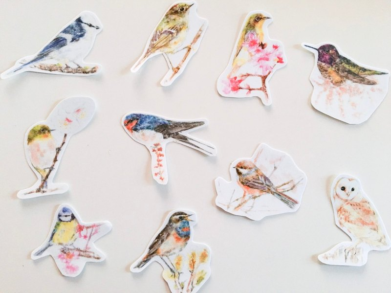 Bird Sticker Set C