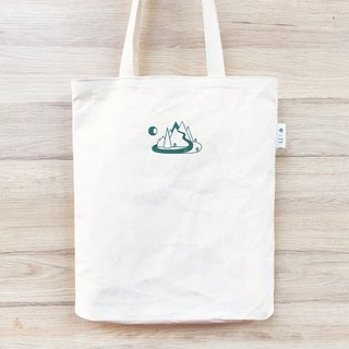 Canvas green tote bag