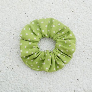 Small dots hair bundle _ green / large intestine ring donut hair ring