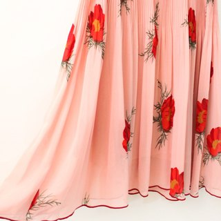 Vintage Sweet Taiwanese Red Rose Pink Sleeveless Vintage Dress Vintage Dress