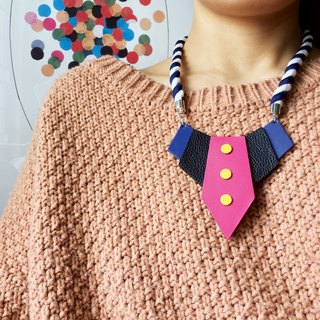 Sonniewing's Geometric Tie-Shaped Leather Necklace