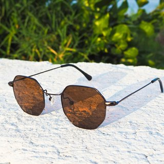 Sunglasses│Vintage Polygon│Brown Frame Brown Lens│UV400 Protection│2is NazC