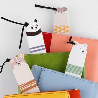 And paper tape sub-packing board cute small animal bookmark punching series creative portable sub-package 8 into