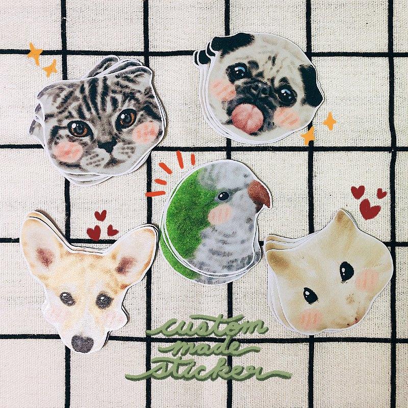 寵物訂製貼紙 (和紙貼紙/防水貼紙)