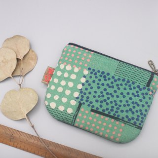 Peaceful little bag - little wallet in line, double-sided two-color Japanese cotton and linen