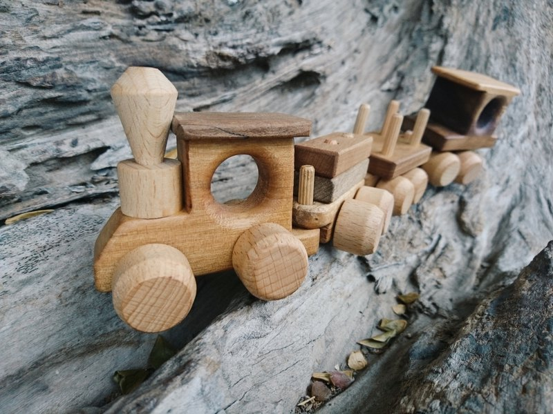 Log Wooden Train Four Pieces | Gifts for Children