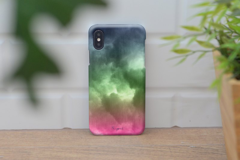 iphone case purple green cloud for iphone5s, 6s, 6s plus, 7, 7+, 8, 8+, iphone x