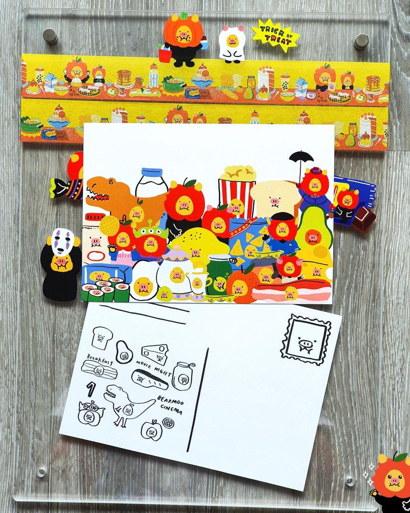 Bearmoo family 01 Postcard