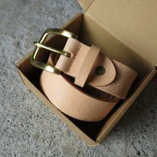 3.5cm wide medium version classic head belt _ soft old vegetable tanned leather handmade [LBT Pro]