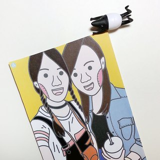 Custom portrait photo postcards for drawing _ half body