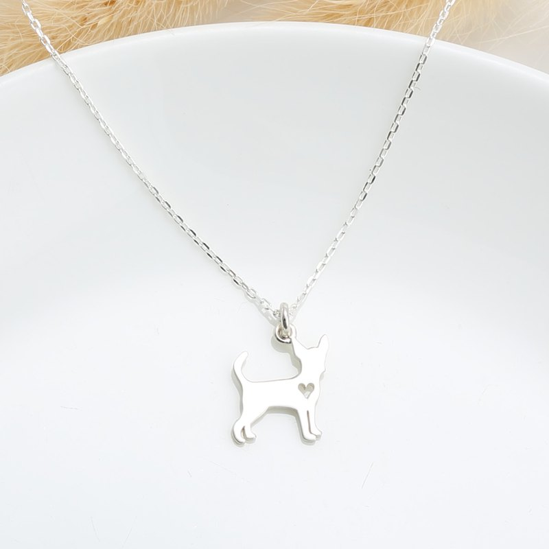 Chihuahua Dog s925 sterling silver necklace Birthday Valentine's Day gift