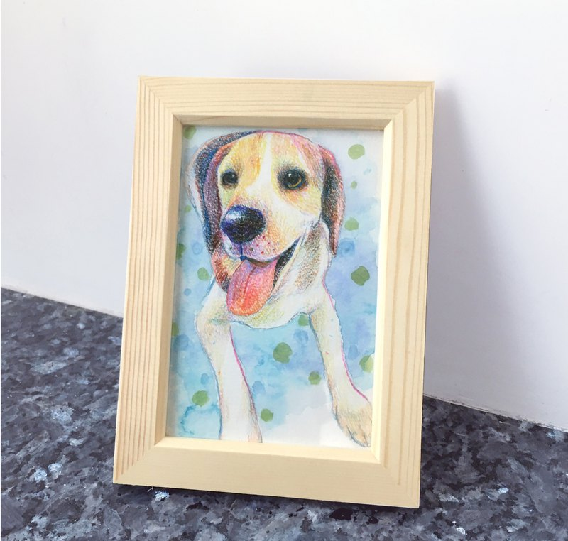 Pet cat dog portrait custom-made professional paint-like picture frame