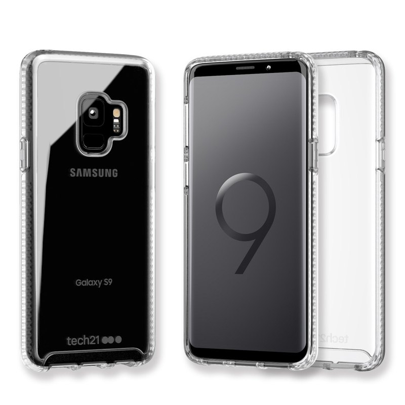 Tech21 British impact resistant Samsung S9 anti-collision hard clear protective shell (5055517389860