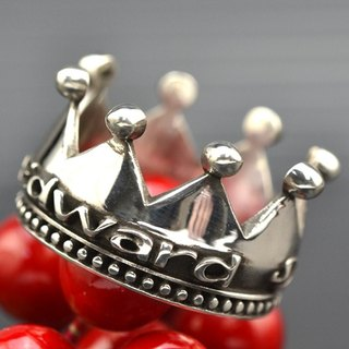 Customized .925 sterling silver jewelry RCW00018- name Crown Ring