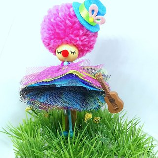 Clown brooch doll