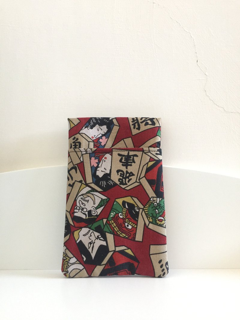 ((mini bear hand made)) Medical pencil case / double-sided (Japanese cloth)