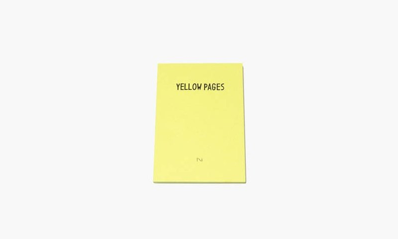 NORITAKE - YELLOW PAGES Notebook
