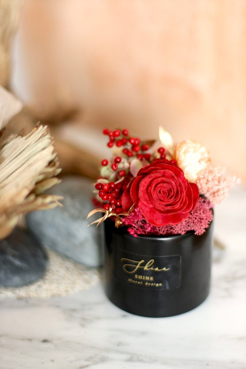 Classic dry fog black gold leaf small potted flower