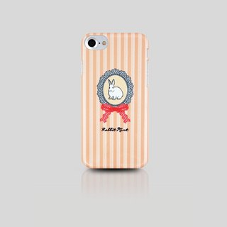 (Rabbit Mint) Mint Rabbit Phone Case - Pink Lace rabbit portrait series - iPhone 7 (P00043)