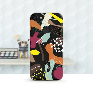 Dots - Scandinavian - Shock-resistant transparent soft shell - iPhone X, iPhone 8, iPhone 7, iPhone 7 plus, iPhone 6, iPhone SE, Samsung