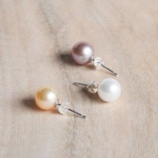 [Rachelle L. Classic Series] Pearl Freshwater Pearl Earrings Ear Clips