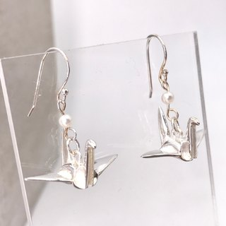 Orizuru Silver 925 & Fresh Water Pearl Earrings