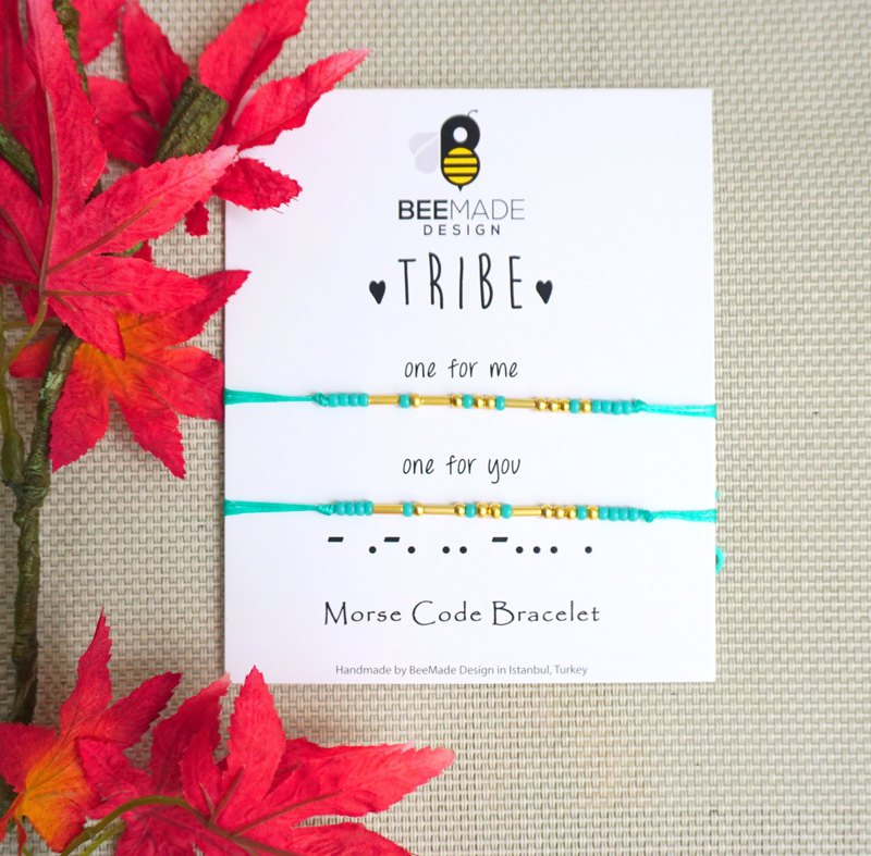 Tribe Morse Code Bracelet Set of 2, Christmas Gift for you and your Bestie