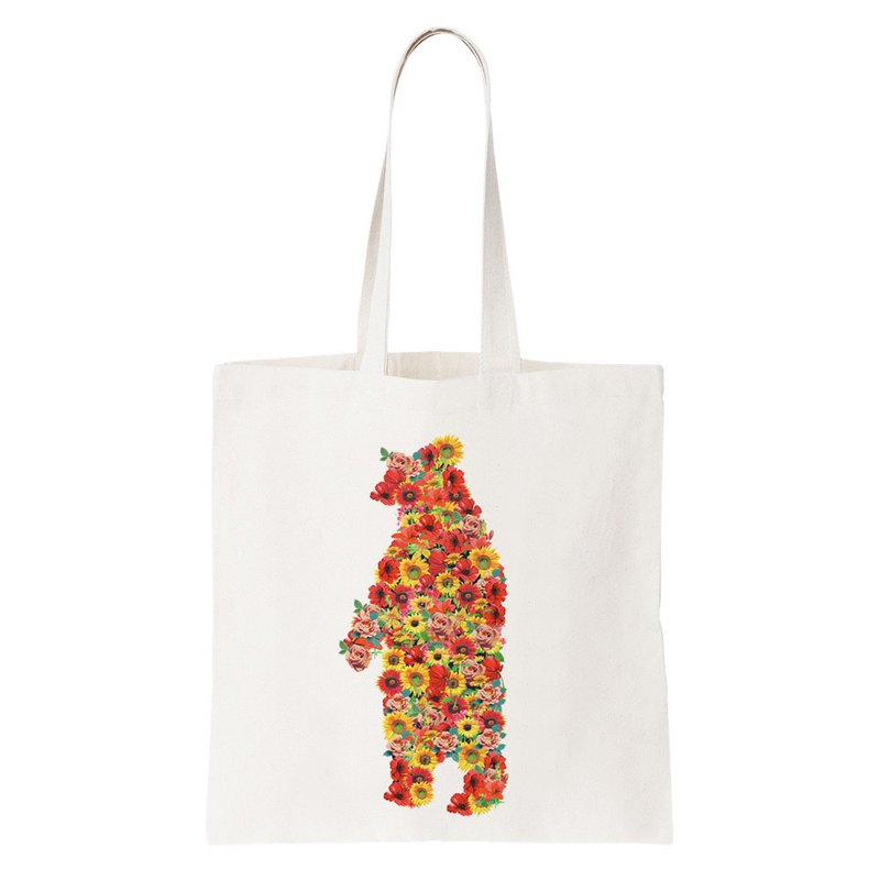 Floral Bear tote bag