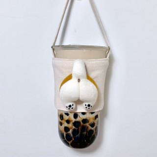 Fat Roast Chicken Butt - Shiba Inu Drink Cup Set - Free Leather Stamp